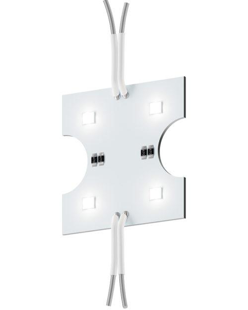 Модуль с линзой 160 градусов GL-3SMD160W76x15 70lm 0,75w