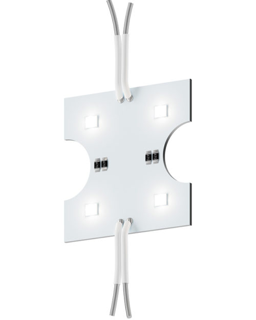 Модуль с линзой 160 градусов GL-3SMD160W76x15 90lm 1w