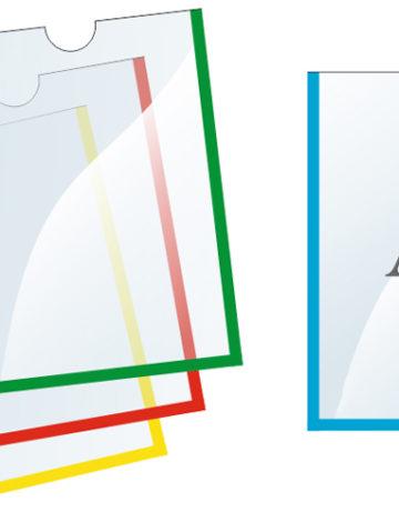 Карман плоский А4 выемка в центре, арт. 93779
