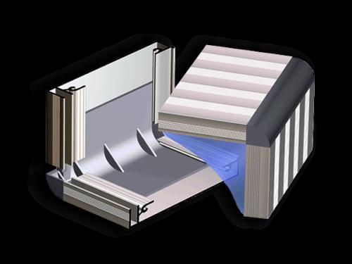 Уголок для профиля алюминиевого 130мм серый