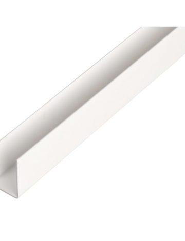Профиль П-образный белый, паз 4мм, 3 м