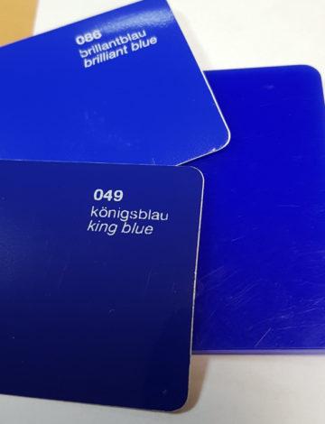 Литое оргстекло Rexglass 3*2050*3050 синее (# 328)