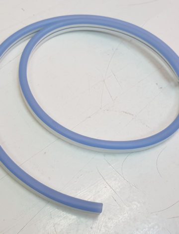 Тонкий неон 12V, цвет голубой DL-NEONTHIN-12-LB-SILIKON816-DL